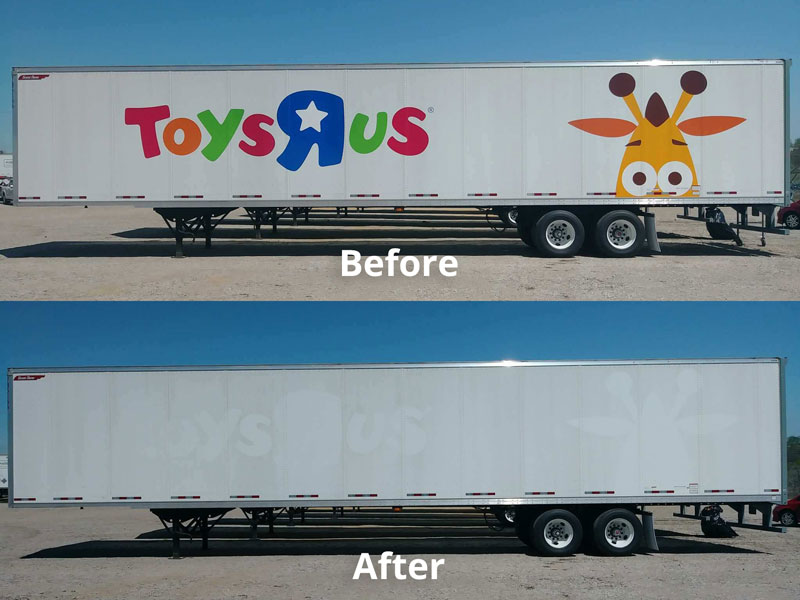 Toysrus Decal Removal